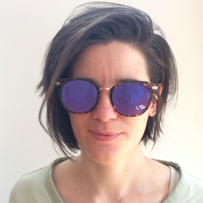 Hannah Voget wearing odd spectacles
