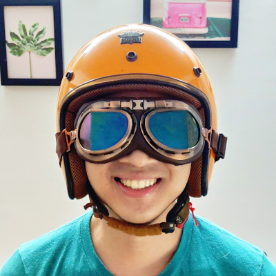 Peter Nguyen wearing odd spectacles