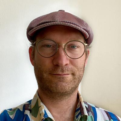 Tobias Kräntzer wearing odd spectacles